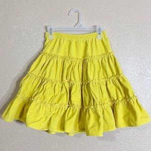 Hanna Andersson girls corduroy yellow skirt